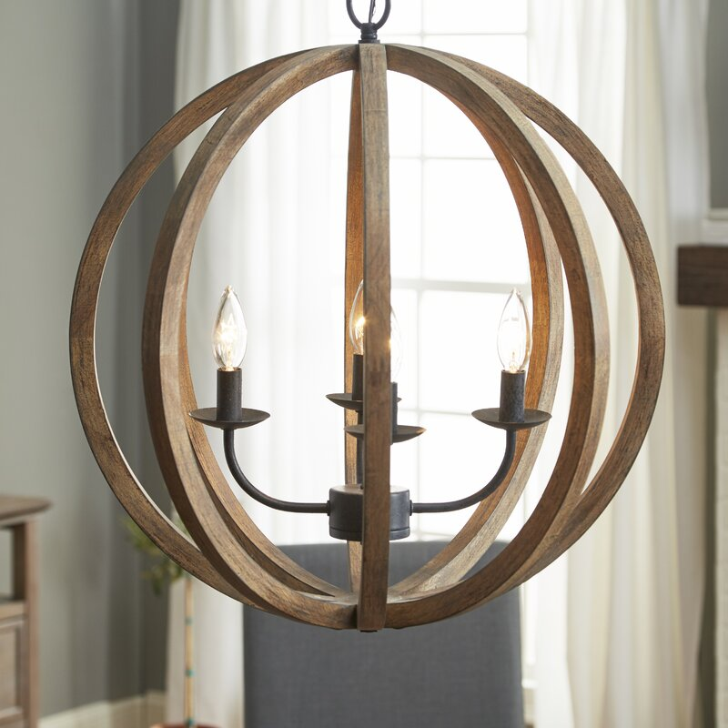 Stanton 4 Light Globe Chandelier