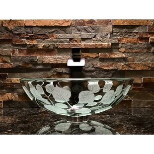 Elegant Glass Engraving Studio Aspen Glass Circular Vessel Bathroom Sink