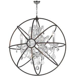 Bourke 1 Tier 4-Light Crystal Chandelier