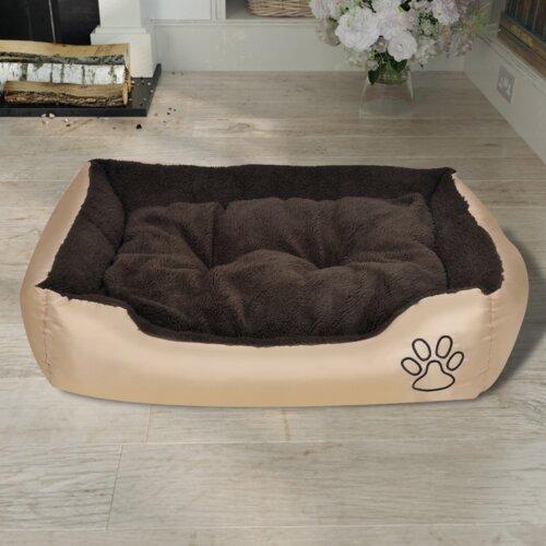 Hundebett mit Polsterung dCor design Größe: Klein (38 cm B x 50 cm T x 17 cm H)| Farbe: Beige | Garten > Tiermöbel > Hundekörbe-Hundebetten | dCor design