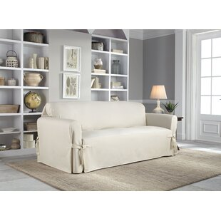 Cotton Duck Box Cushion loveseat Slipcover