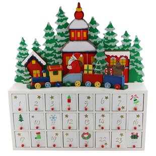 train advent wooden calendar countdown - Wooden Christmas Advent Calendar