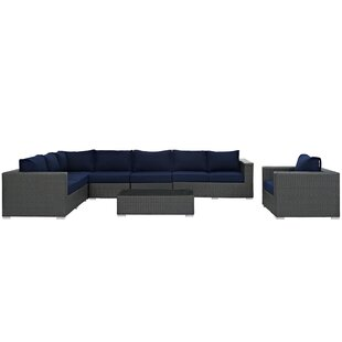 Tripp 7 Piece Patio Sunbrella Sectional Set with Cushions