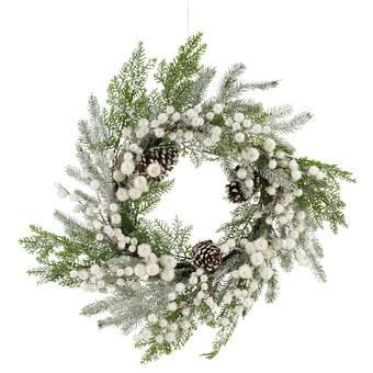 The Holiday Aisle Full 21 7 Plastic Wreath Wayfair