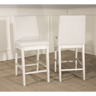 Kinsey Full Back Bar Stool (Set of 2) Rosecliff Heights