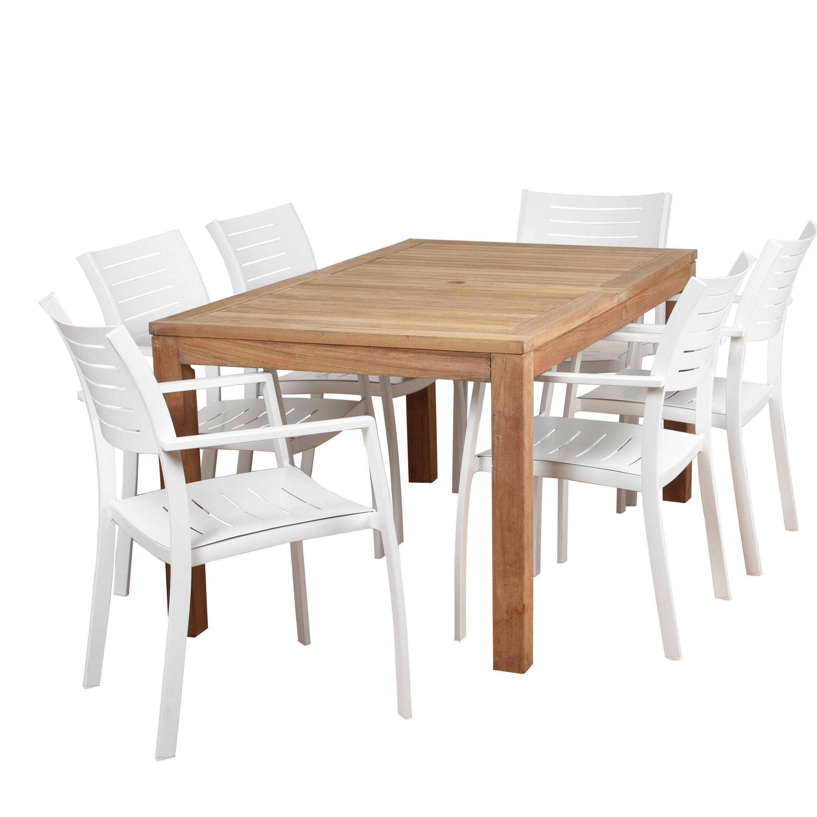Brighton 7 Piece Teak Dining Set Allmodern