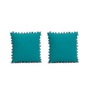 Blythe PomPoms 100% Cotton Pillow Cover (Set of 2)