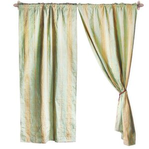 Jacquard Striped Semi Sheer Rod Pocket Curtain Panels (Set Of 2)