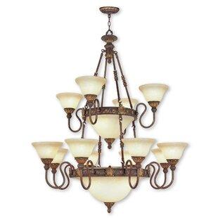 Astoria Grand Artlone 18-Light Shaded Chandelier