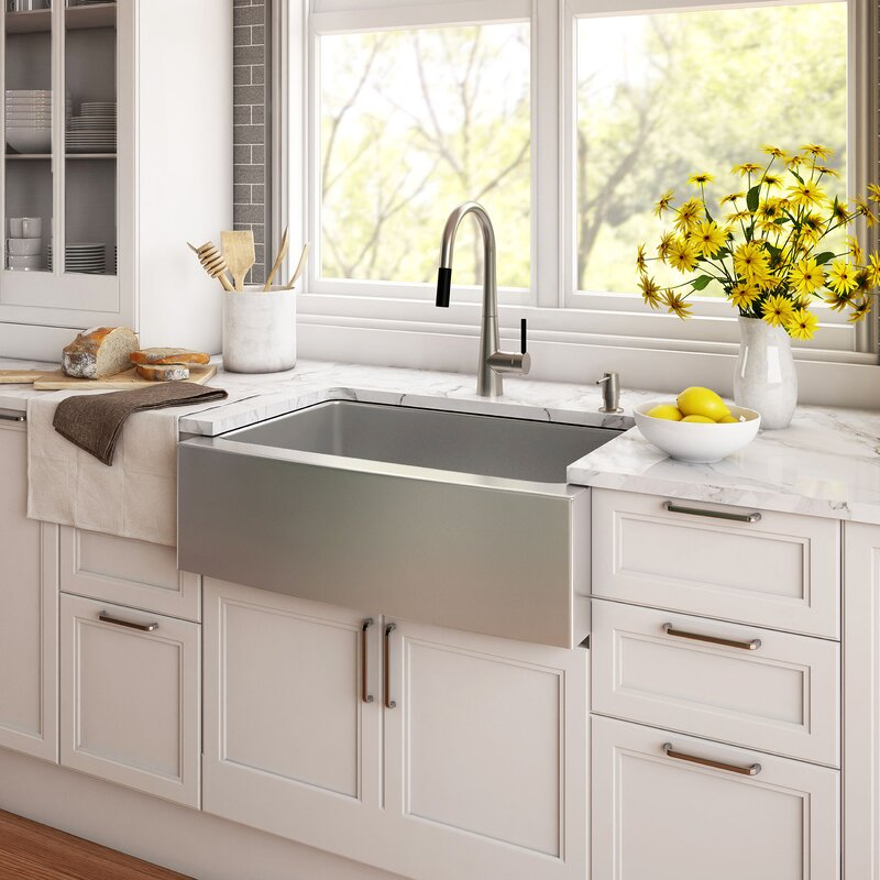 Kraus 36 x 21 double basin farmhouse kitchen sink with drain 36 x 21 double basin farmhouse kitchen sink with drain assembly workwithnaturefo