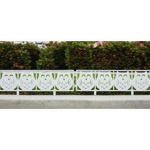Owl Garden Fence Panel