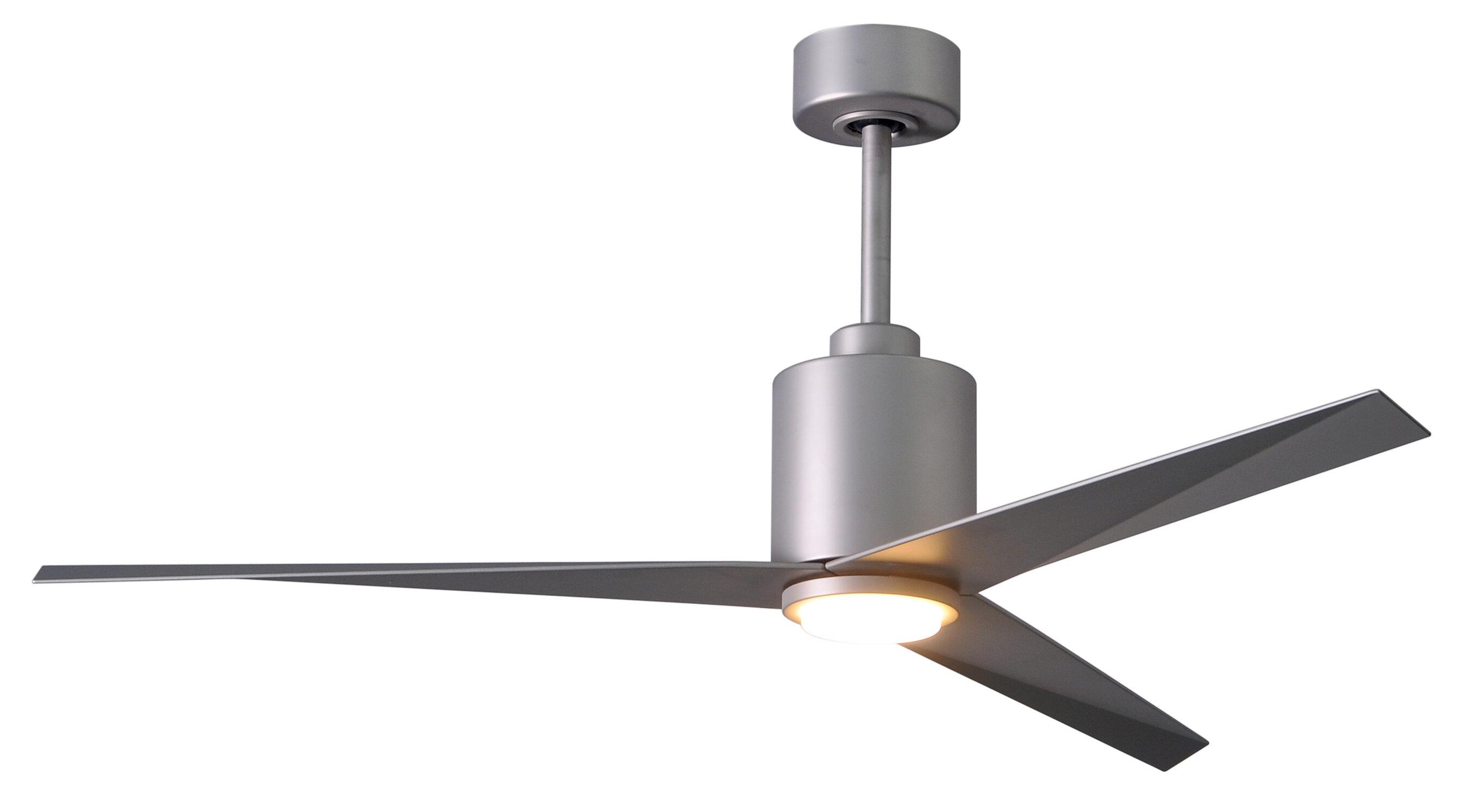 "Orren Ellis 56"" Hedin Frosted Glass Light Kit 3 Blade LED Ceiling"