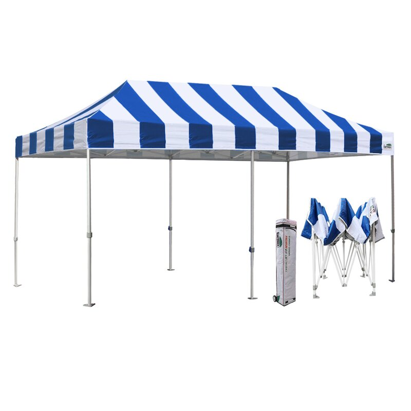 Eurmax Premium 20 Ft W X 10 Ft D Steel Pop Up Canopy Wayfair