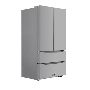 4-Door 22.5 cu. ft. Counter Depth French Door Refrigerator with Recessed Handle by Thor Kitchen