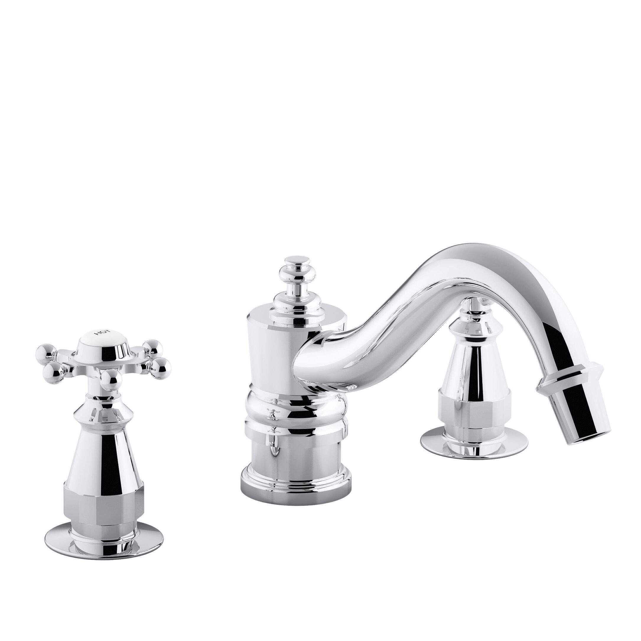 Picture of: Kohler Antique Bath Faucet Trim For Deck Mount High Flow Valve With 6 Prong Handles Valve Not Included Wayfair