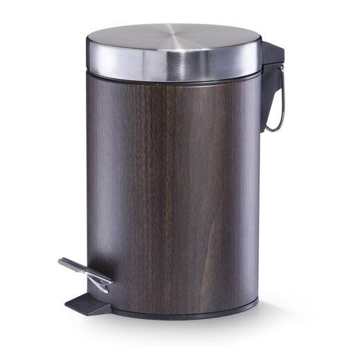 3 L Mülleimer aus Metall   Küche und Esszimmer > Küchen-Zubehör   Walnuss   Zeller Present