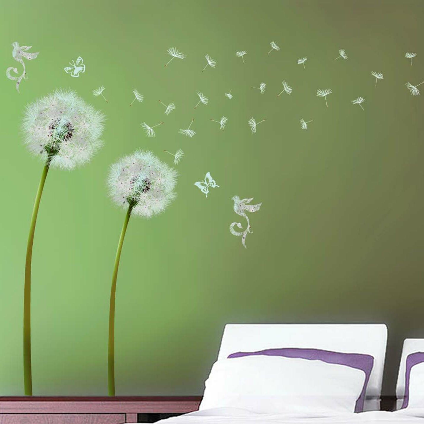 Walplus dandelion wall decal reviews wayfair
