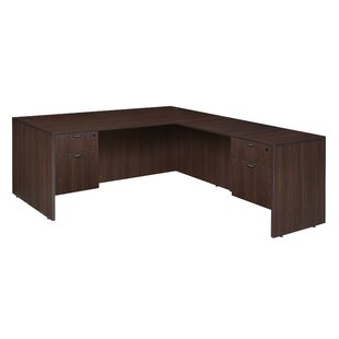 Linh Double Pedestal L-Shape Corner Desk