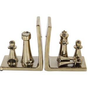 2-tlg. Buchstützen Chess von Mercer41