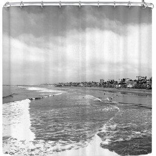 Nick Nareshni Oceanside Waves Single Shower Curtain