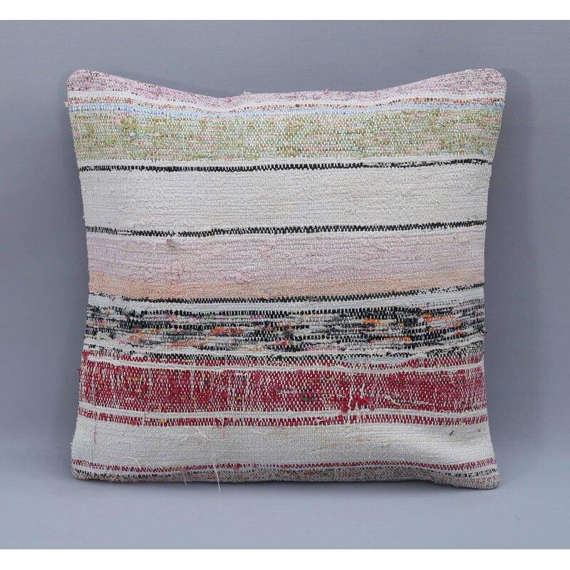 Rosalind Wheeler Kolya Square Wool Pillow Cover And Insert Wayfair