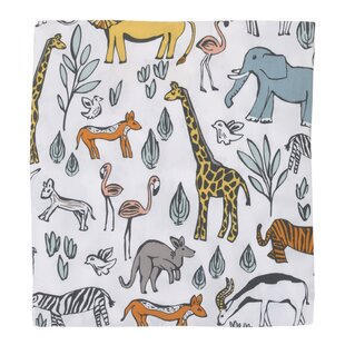Savings Safari Fitted Crib Sheet By DwellStudio