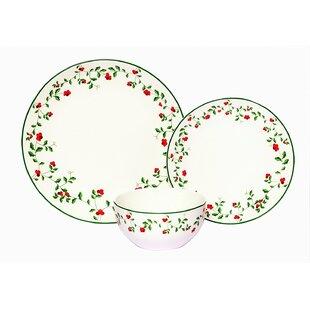 Alphonsine Winterberry Porcelain Coupe 18 Piece Dinnerware Set Service for 6  sc 1 st  Wayfair & Winterberry Dinnerware | Wayfair