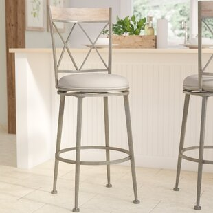 Allain 30 Swivel Indoor/Outdoor Patio Bar Stool August Grove