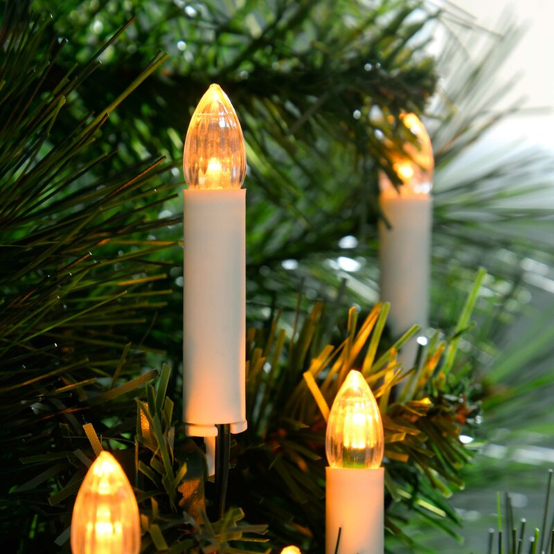 Christmas Solar Ed Warm Led Pillar Candle Set