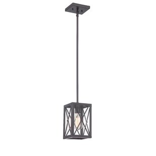 Online Reviews Harlon 1-Light Square/Rectangle Pendant By 17 Stories
