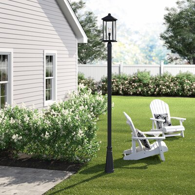 "Lovette 1-Light 97"" Post Light Sol 72 Outdoor Finish: Black, Size: 117.25""H x 10"" W x 10"" D"