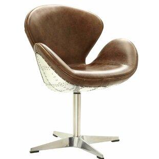 Regina Swivel Barrel Chair by 17 Stories