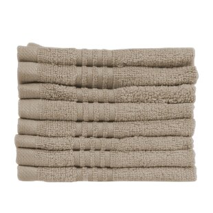 Parkhill Microcotton 8 Piece 100% Cotton Washcloth Set (Set of 8)