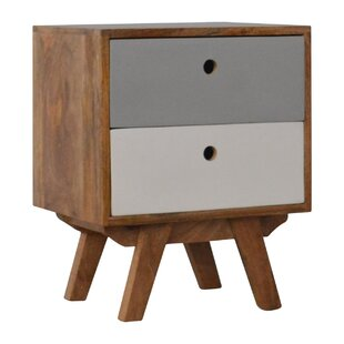 Ruby 2 Drawer Bedside Table By George Oliver