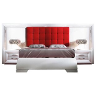 Krajewski Special Headboard Platform 4 Piece Bedroom Set
