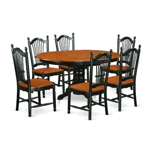 Aimee 7 Piece Solid Wood Dining Set August Grove