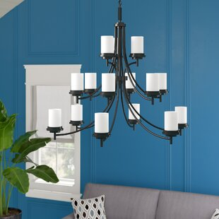Dashiell 15-Light Shaded Chandelier by Three Posts
