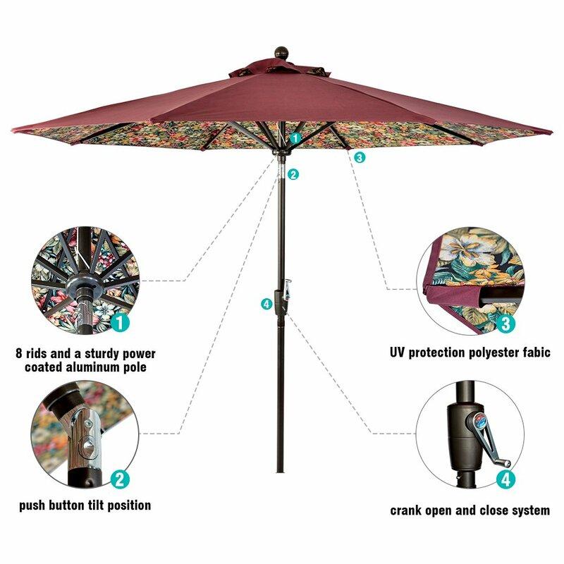Lch 9 Ft Outdoor Patio Umbrella