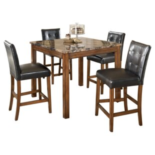 Athens 5 Piece Counter Height Dining Set Charlton Home