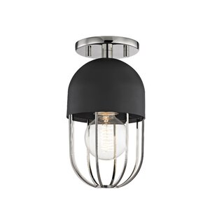 Brayden Studio Galien 1-Light Semi Flush Mount