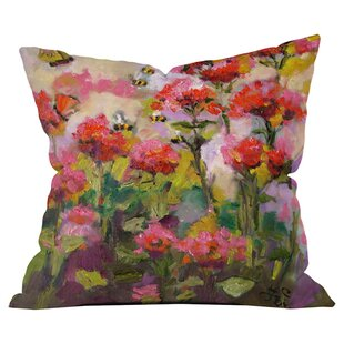 Bee Balm and Bees Out Throw Pillow