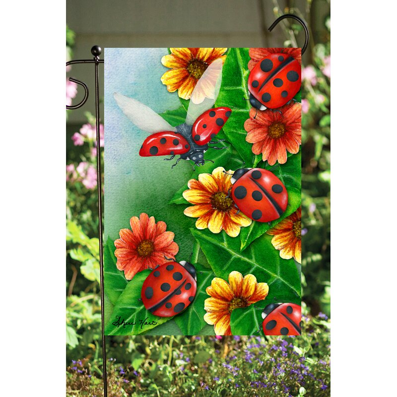 Flags Galore Decor And More Lady Bugs 2 Sided Polyester 18 X 12 In Garden Flag Wayfair