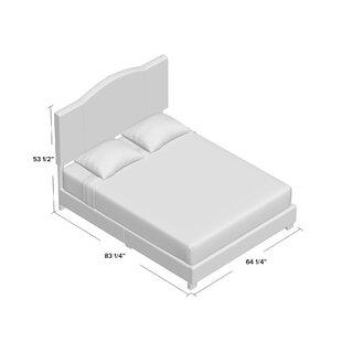 Andover Mills Black Mesa Modified Camel Back Upholstered Panel Bed