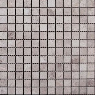 Review 1 x 1 Marble Mosaic Tile in Silver Shadow by Ephesus Stones