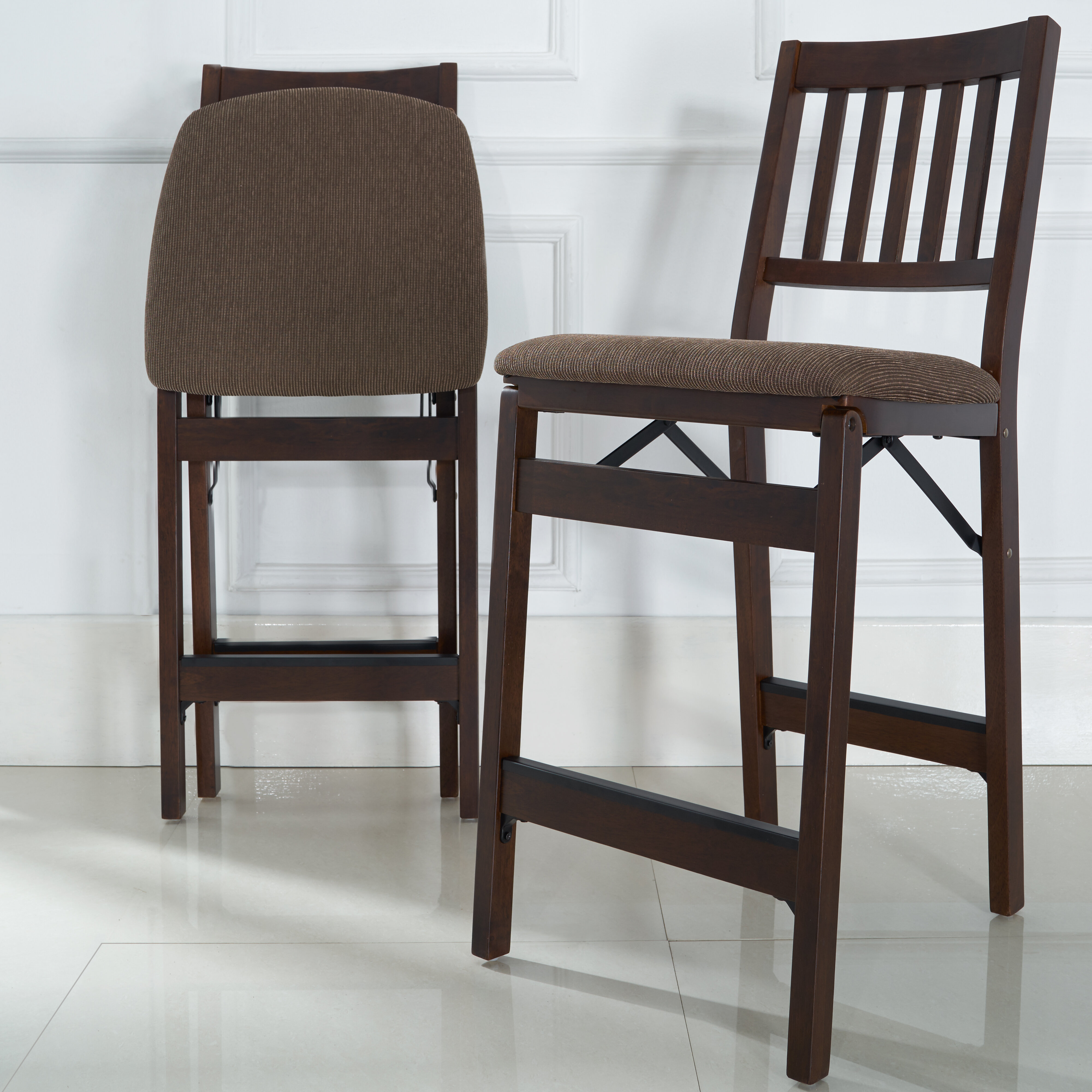 Awesome Emington Folding Barstools Gmtry Best Dining Table And Chair Ideas Images Gmtryco