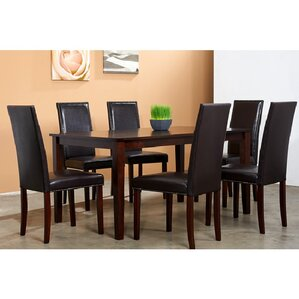 Blazing 7 Piece Dining Set by Warehouse of Tiffany
