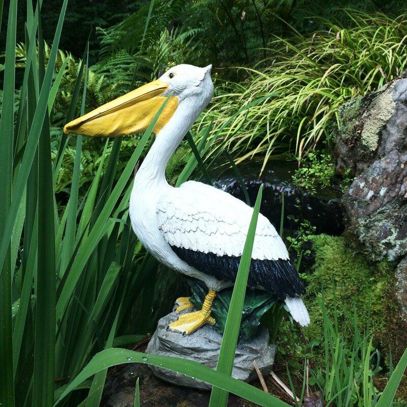 Fluffy Pelican Christmas Ornament
