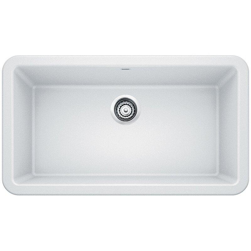 """Blanco Ikon 33"""" L x 19"""" W Farmhouse/Apron Kitchen Sink"""