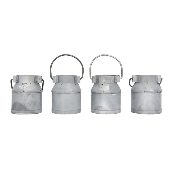 Craft Outlet Inc 11.5 Galvanized Tin Milk Can