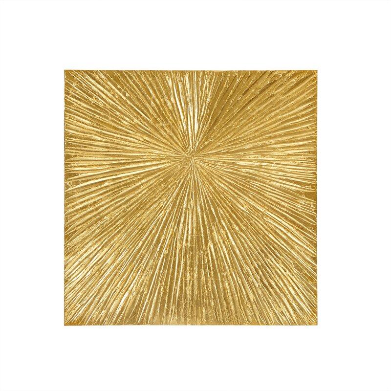 Madison Park Signature Sunburst Resin Dimensional Palm Box Wall ...